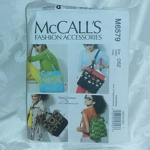 McCall's # M6579 Tote Bags Sewing Pattern